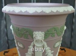 Rare Wedgwood Museum Series Tricolor Lilac Jasperware Pilar Vase Limited Edition