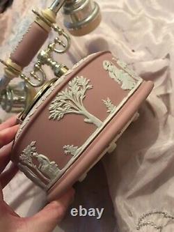 Rare Wedgwood Pink Jasper Jasperware Working Telephone Phone V Good Condition