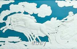 Rare Wedgwood Teal Jasperware Neoclassical'The Fall of Phaeton' Plaque