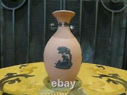 Rare Wedgwood Terracotta Black Jasper Ware Four Seasons Cupids Bud Vase (1957)