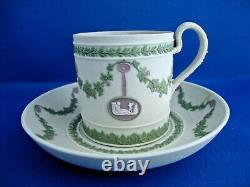 Rare Wedgwood Tri Coloured Jasperware Cup and Saucer c 1870's to 1880's
