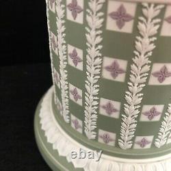Rare Wedgwood Tricolor Jasperware Diced Humidor Tobacco Jar Limited Edition 90/2