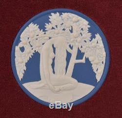 Rare Wedgwood White & Dark Blue Jasperware Adam & Eve Plaque
