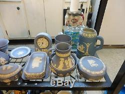 Robust Collection Of 46 Pieces Of Wedgwood Jasperware