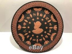 Scarce Wedgwood Jasperware Egyptian Plate Tutankhamun Primrose Terra-cotta