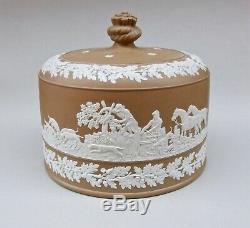 Superb & Huge Jasperware China Cheese Dome Dudson Wedgwood Adams Fox Hunting Int