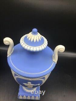 Very delicate Jasperware covered urn vase, Adams Tunstall, England