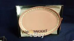 Vintage 11 Pc. Wedgewood Jasperware Pink Mini Miniature Coffee & Tea Set NIB WOW