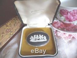 Vintage Jewellery Wedgwood Brooch Pin Sterling Silver Orig Box Antique Jewelry