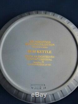Vintage Limited Edition Wedgwood Blue Jasperware Rum Kettle Dancing Hours C1993