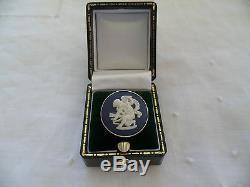 Vintage Portland Blue White Jasper Ware Wedgwood Solid Sterling Silver Ring