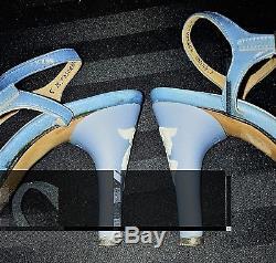 Vintage Rayne Wedgwood Jasperware Heeled Toscana Slingback Shoes Size 5M
