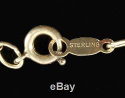 Vintage Sterling Blue Wedgwood Jasperware 1956 Pegasus Big Pin Pendant 18