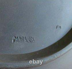 Vintage Wedgewood Jasperware Black Basalt Round Sacrifice Bowl