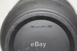 Vintage Wedgwood BLACK BASALT Jasperware 3.5 Jardiniere, Cache Pot, or Planter