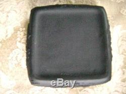 Vintage Wedgwood Black Basalt Jasperware Square Lidded Box Mint