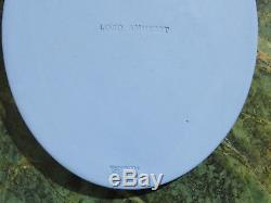 Vintage Wedgwood Blue Jasper Ware Lord Jeffrey Amherst Large Oval Medallion
