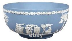 Vintage Wedgwood Blue Jasper Ware Sacrifice Figures 8 Open Centerpiece Bowl