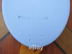 Vintage Wedgwood Blue Jasper Ware William Penn Oval Medallion
