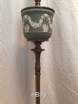 Vintage Wedgwood Cameo Lion Floor Lamp Jasperware