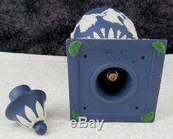 Vintage Wedgwood Dark Blue Jasperware Dancing Hours Bolted Urn Vase