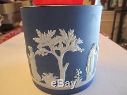 Vintage Wedgwood Dark Blue Jasperware Heavy 5 X 5 1/4 Excel. Cond. Lot A