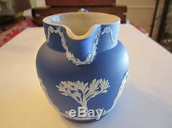 Vintage Wedgwood Dark Blue Jasperware Small Pitcher 6 X 5- Lot A