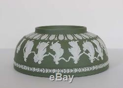 Vintage Wedgwood JASPERWARE 10 BOWL Sage Green DANCING HOURS England 1956