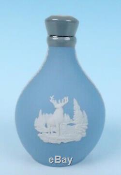 Vintage Wedgwood Jasperware MINIATURE Glenfiddich Flask Bottle Decanter Jasper