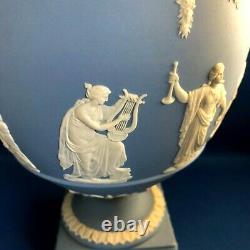 Vintage Wedgwood Jasperware Massive Urn /vase & Cover C1969 -the Muses & Apollo