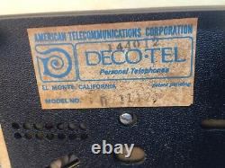 Vintage Wedgwood Jasperware Style Deco Tel Plastic Rotary Telephone As Is