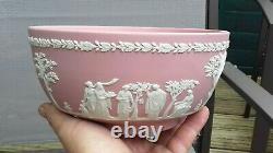 Vintage Wedgwood Pink Jasperware Large Bowl Rare