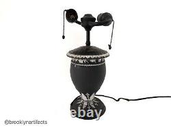 Vintage Wedgwood Porcelain Black Jasperware Lamp Vase or Urn