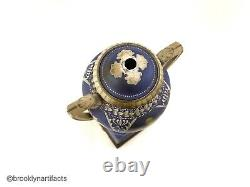 Vintage Wedgwood Porcelain Blue Jasperware Lamp Vase or Urn with base