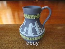 Vintage Wedgwood Tri-Color Portland Blue Jasperware Figures 5 Etruscan Jug