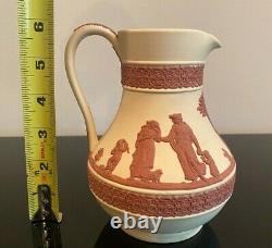 WEDGWOOD COLLECTORS SOCIETY Primrose Terracotta Jasperware Jug Pitcher Vintage