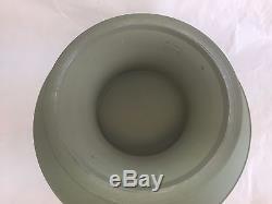 WEDGWOOD GREEN CELEDON jasperware large footed bowl dutch sacrifice