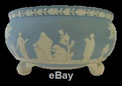 WEDGWOOD, Imperial Footed Bowl Pale Blue/White Jasperware, Exquisite, 1890's