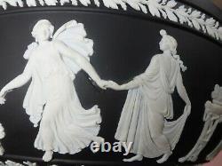 WEDGWOOD JASPERWARE BLACK & WHITE DANCING HOURS BOWL c. 1957 (JASPER)