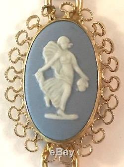 WEDGWOOD JASPERWARE VAN DELL BRACELET 12K GF Cameo Vintage Fine Jewelry