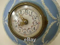 WEDGWOOD Jasperware pale blue Uhr Wanduhr wallclock antik °