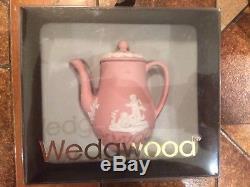 WEDGWOOD PINK JASPER WARE MINIATURE TEA SET 10 pieces Antique Vintage