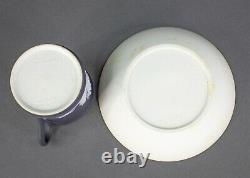 Wedgewood England Antique Black Jasperware Cup & Saucer Set