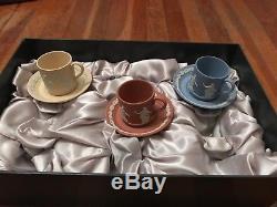 Wedgewood Jasperware tea cup set with original box