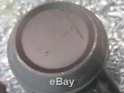Wedgwood Basalt Black Coffee Tea cup & Saucer Plate 1864 Pottery Jasperware RARE