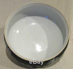 Wedgwood Black 10 1/4 Jasperware Footed Bowl
