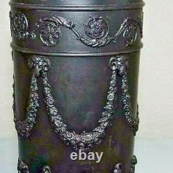 Wedgwood Black Basalt Jasperware ACANTHUS 10 Spill Vase C. 1840 Excellent