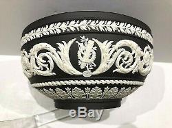 Wedgwood Black Basalt Jasperware Arabesque 5 Bowl Scarce Mint C. 1967 Nice