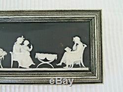 Wedgwood Black Dipped Jasperware Domestic Harmony Plaque 19th Century