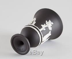 Wedgwood Black Jasperware Footed Arcadian Vase 7 Maternal Affection